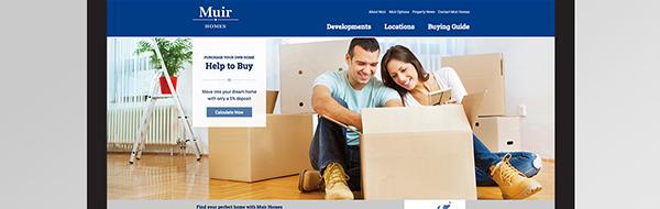 Muir Homes website development