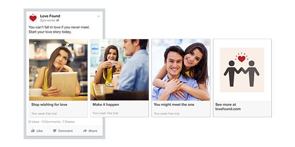 Facebook adverting carousel ads